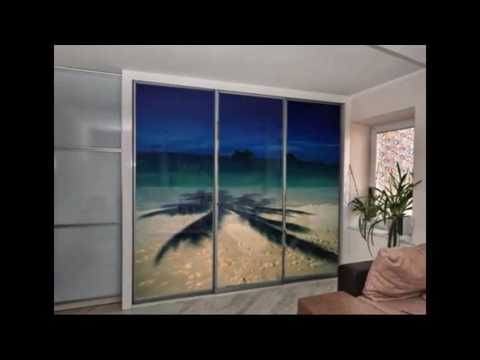 Шкафы-купе с 3D дверями из ударопрочного лентикулярного стекла.