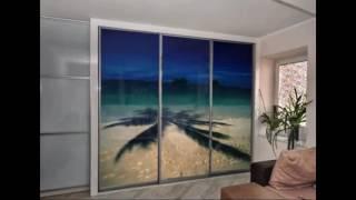 видео Шкафы купе со стеклянными дверями: фото варианты шкафов