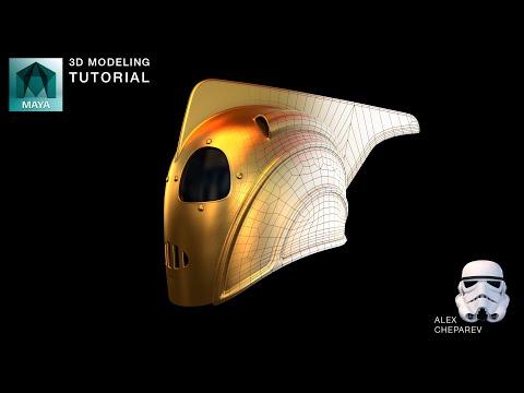 Rocketeer Helmet - Maya 3D Modeling Tutorial