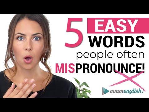 Back To Basics: Common English Words You May Mispronounce ??