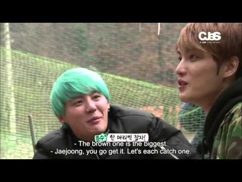 """[ENG SUB] JYJ """"Fruitful Trip"""" Ep. 2 - JYJ's 'Thor' Undercover! Head-to-Head, Chopping Firewood!"""