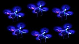 Световое Шоу квадрокоптеров   дронов в темноте на выставке роботов на ВДНХ