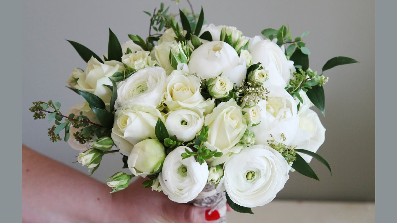 Country Style Bridal Bouquet - White - Hardys Flowers - YouTube