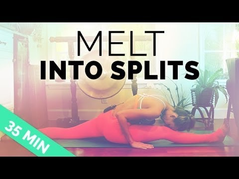 Stretch into Splits (Beginner & Advanced Options) - 35 Min Yoga Sequence for Splits