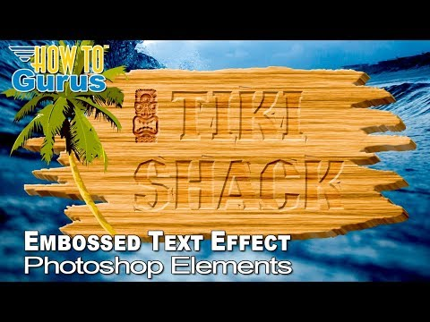Photoshop Elements Text Effects Embossed Tiki Sign DaFont Graphics Free Font Download Tutorial