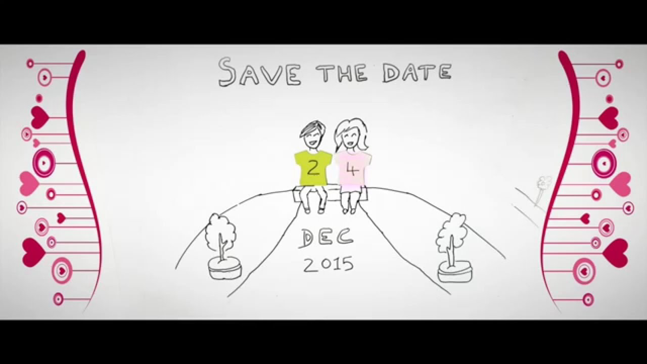 Hedendaags Save The Date | Stop Motion Animation - YouTube SE-85