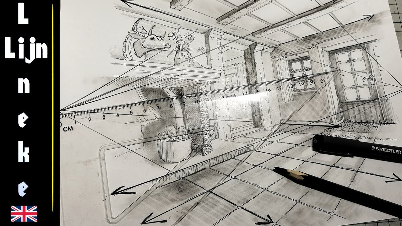 how to draw interior design sketches easy