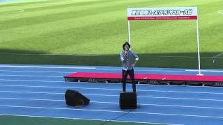 駒沢陸上競技場で行われた2013東京国際ユース(U14)サッカー大会の後に...