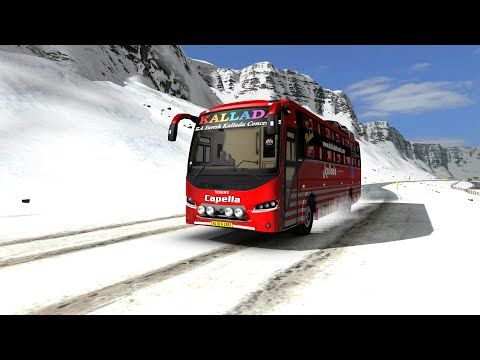 Bus driving on a extremely slippery road | Games |