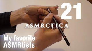 My favorite ASMR Artists Ramble - Soft Spoken, Hand movements, Graphite pencil on nails