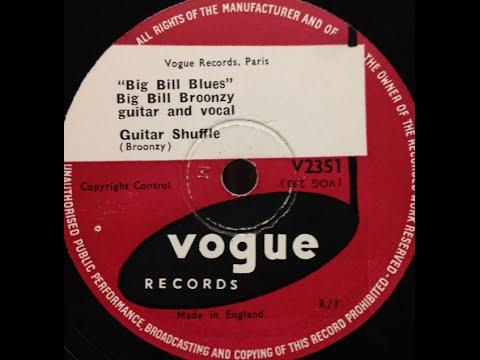 "Big Bill Broonzy ""Guitar Shuffle"" ragtime like Blind Boy Fuller"