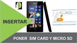 NOKIA LUMIA 520 Como Instalar  La Sim Card  Y La Micro SD HD