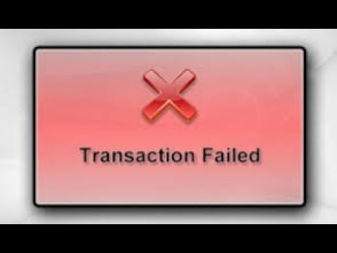 Failed transactions