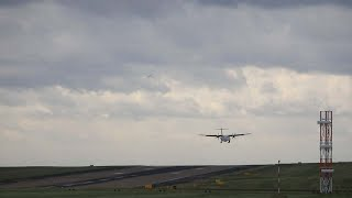 Planes Struggle To Land In Storm Hector