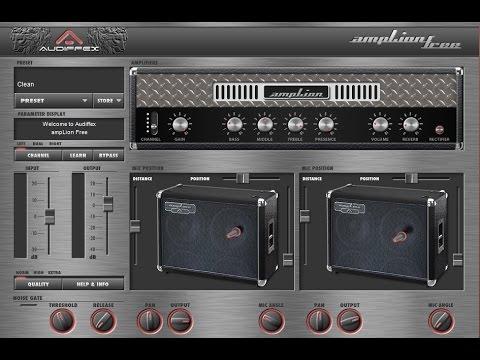 Amplion by Audiffex - Virtual High Gain Amp - Metal Tone Test (Free Vst Plugin)