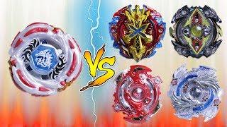 METEO L-DRAGO vs 4 SPIN EMPERORS   Beyblade Burst Team Battle ベイブレードバースト