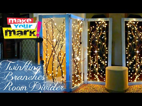 How To Twinkling Branches Room Divider Youtube