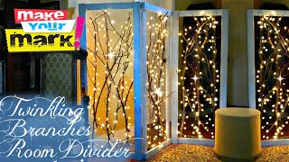 How To: Twinkling Branches Room Divider