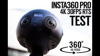 Insta360 PRO 4K 360 Test Footage - Review in camera stitching (RTS mode)