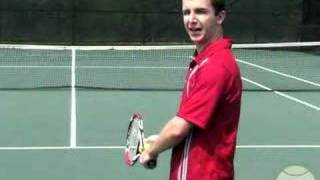 Tennis Lesson: Serve Step 1 - Stance