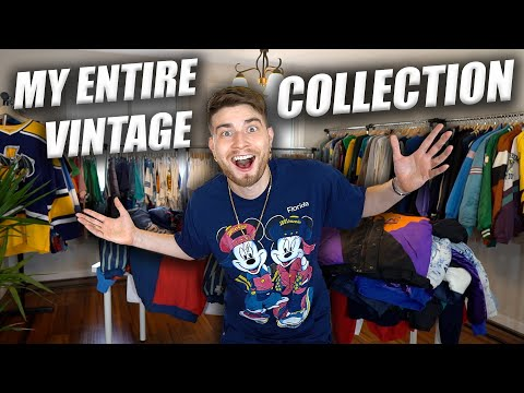 INSIDE MY ENTIRE VINTAGE CLOTHING COLLECTION!! JACKETS & BUTTON UPS! Part 1