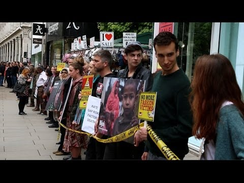 Rana Plaza Disaster: Activists form human chain in Oxford Street