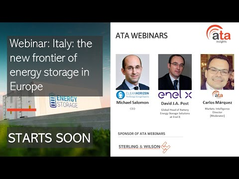 Webinar: Italy: the new frontier of energy storage in Europe