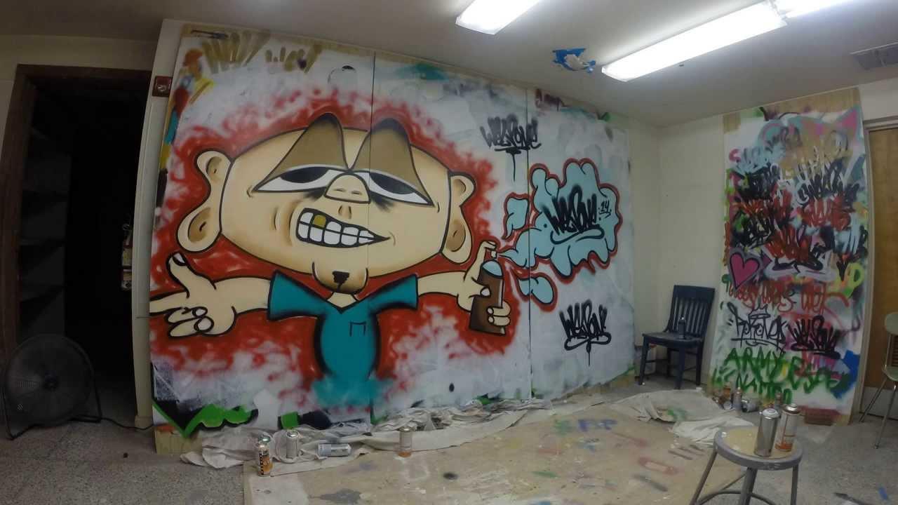 Graffiti Character (Spray Paint) - YouTube
