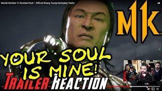 MK11 - Shang Tsung DLC Reveal Trailer - Angry Reaction!