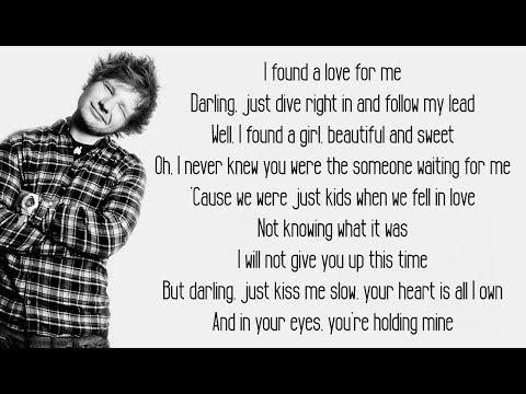 Perfect - Ed Sheeran (Lyrics)