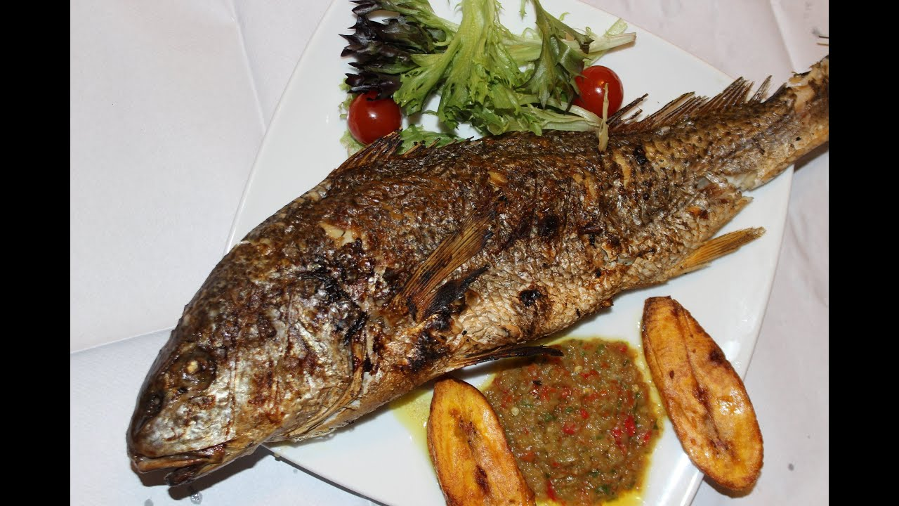 Grilled croaker fish nigerian food african food youtube for What is a croaker fish