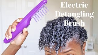 I Tried An ✨Electric Detangling Hair Brush✨On Natural Hair And See What Happened😱