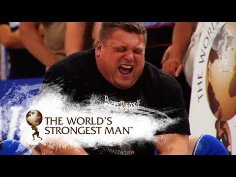 2009 Atlas Stones: Savickas v Pudzianowski | World's Strongest Man