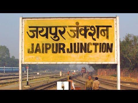DEPARTING JAIPUR : Meeting MAHARAJA Express & Abandoned Meter Gauge station!