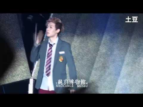 [INNOCENCE MUSEUM] 131001 Shanghai West Coast Music Festival EXO-M LAY ending kiss kiss