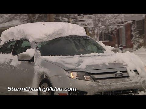 11/18/2014 Grand Rapids, MI Morning Lake Effect Snow Continues B-Roll
