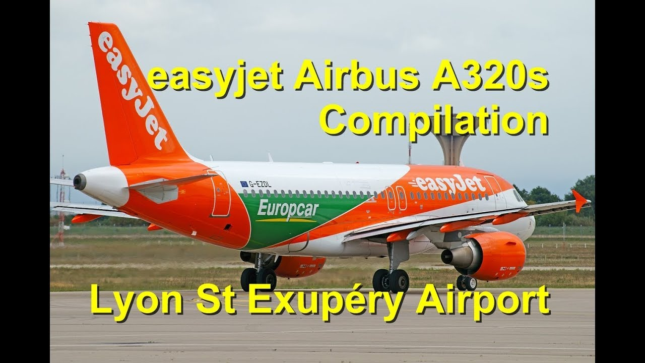 easyjet plane spotting at lyon st exup ry airport old and new liveries europcar sticker youtube. Black Bedroom Furniture Sets. Home Design Ideas