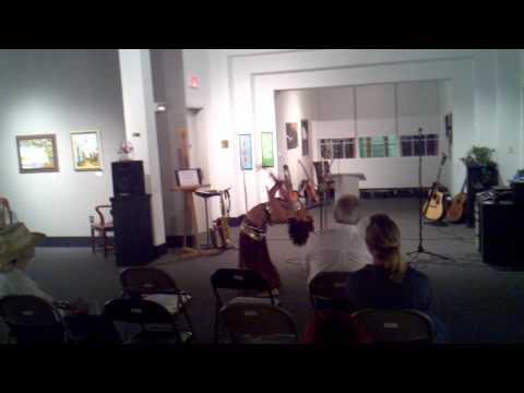 Deaf Marika Maris Bellydance Performing At Verse Vice (poetry & Arts)
