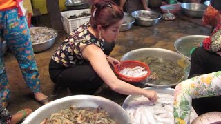 Seafood Market at Kampot Province in Cambodia