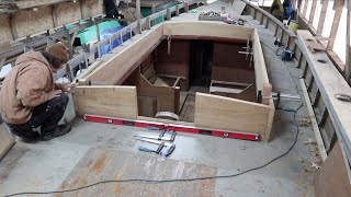 Dry fitting the new coachroof cab side timbers.  Episode 15