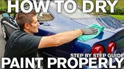 How to Dry Paint Properly No Scratches