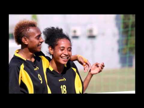 """Women soccer in Indonesia. Galanita Persipura teamsong: """"Galpera ko sirbe"""""""