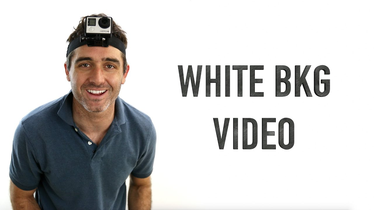 How To Shoot White Background Video Cheap