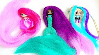 LOL DOllS with THE LONGEST HAIR in the WORLD! Compilation. #lolhairgoals Video for children