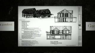 Gambrel Cabin House Plan, Gambrel Cabin House