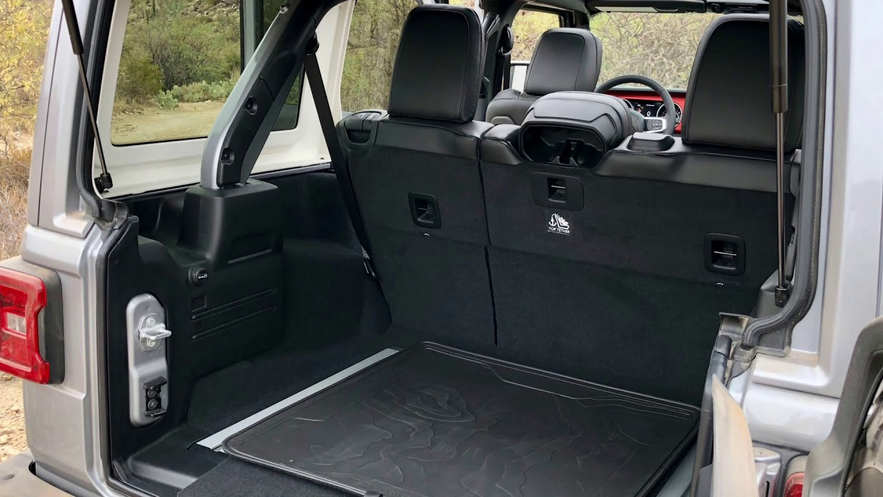 2018 Jeep Wrangler Interior His Cargo Area Is Ready For