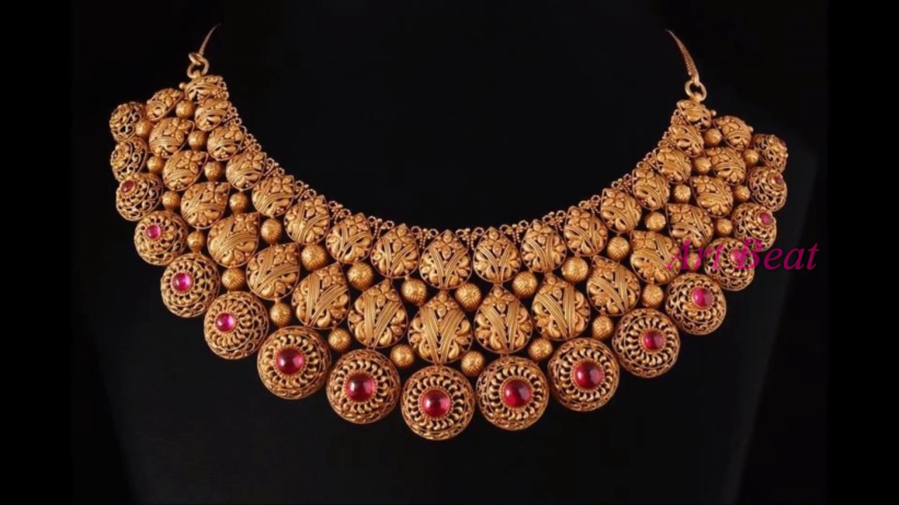 Latest Light Weight Gold Necklace Designs Beautiful Gold Jewelry Collection Youtube