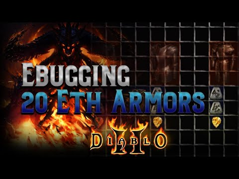 Ebugging 20 Elite Armor Bases In Diablo 2 - The Quest For A Godly Mercenary Armor Base