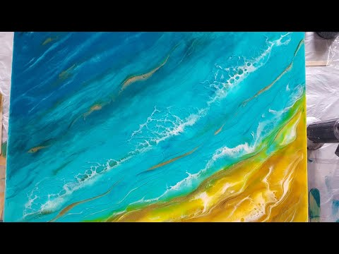 Epoxy Resin clear water Seascape for begginers step by step