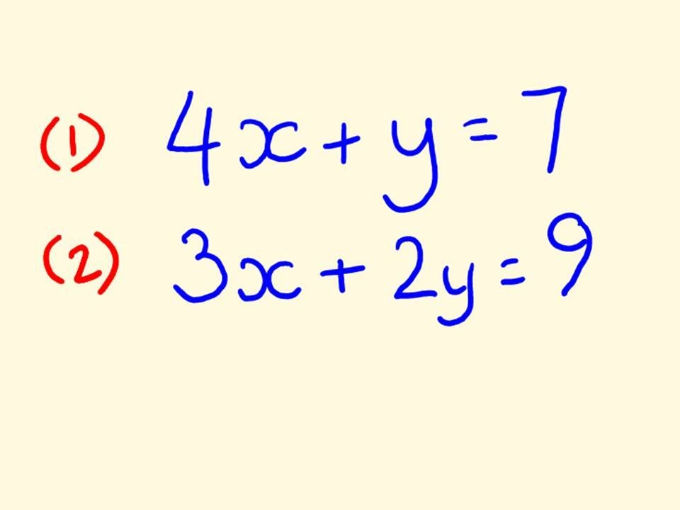 Simultaneous equations algebra math trick youtube.